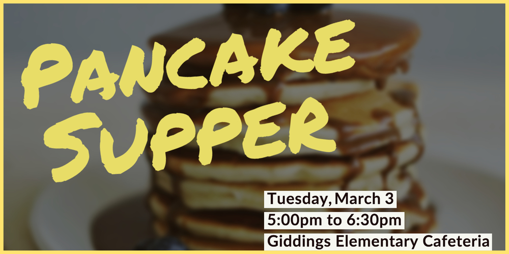 TONIGHT! Pancake Supper Benefitting Early Act/First Knight Program