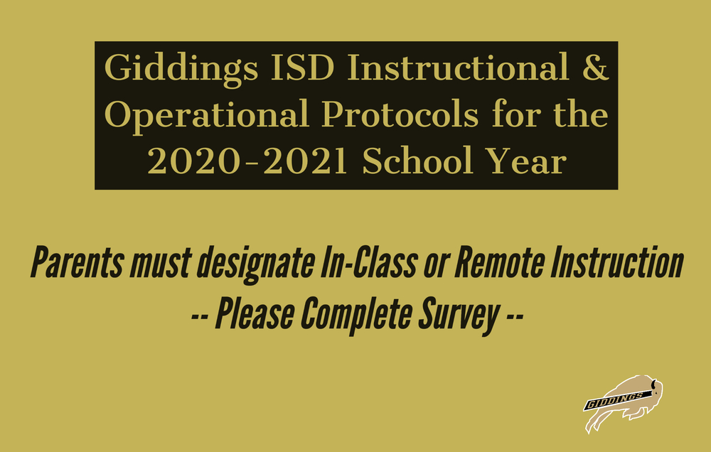 Giddings ISD Instructional & Operational Protocols for the 2020-2021 School Year