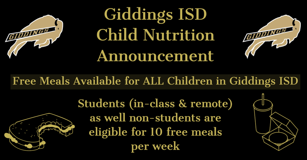 Free Meals for all Children in GISD