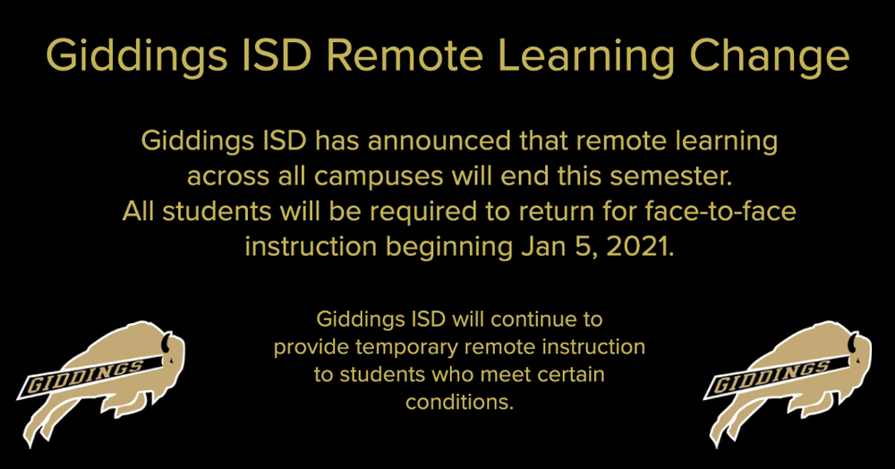 GISD To End Remote Learning