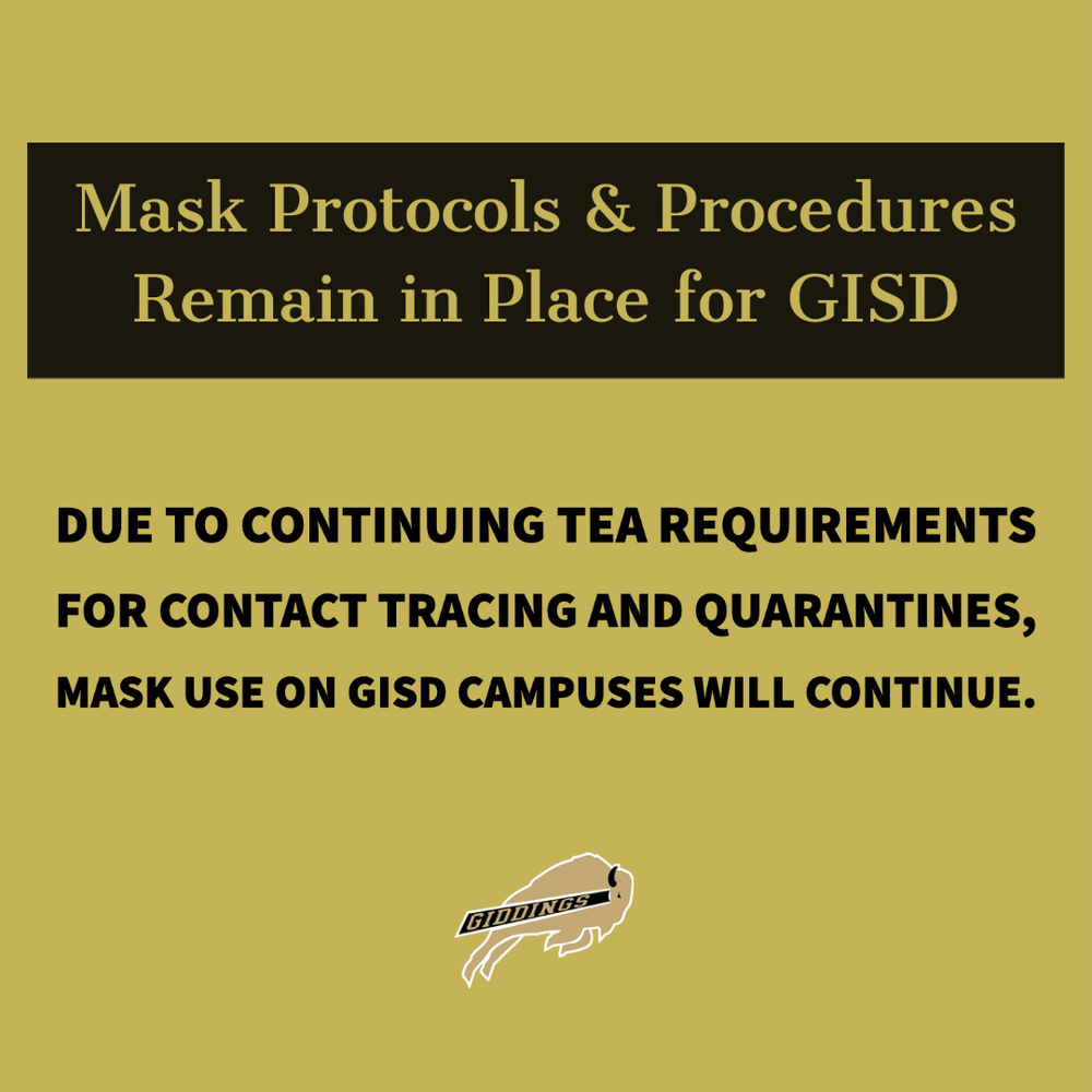 Mask Policy for GISD to Remain In Place