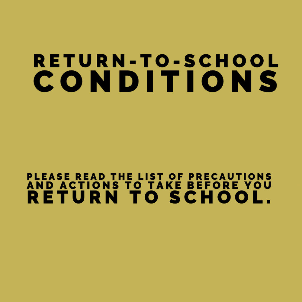 Return-To-School Conditions