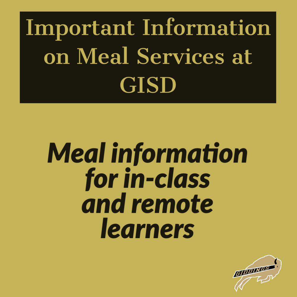 Important Information on Meal Services