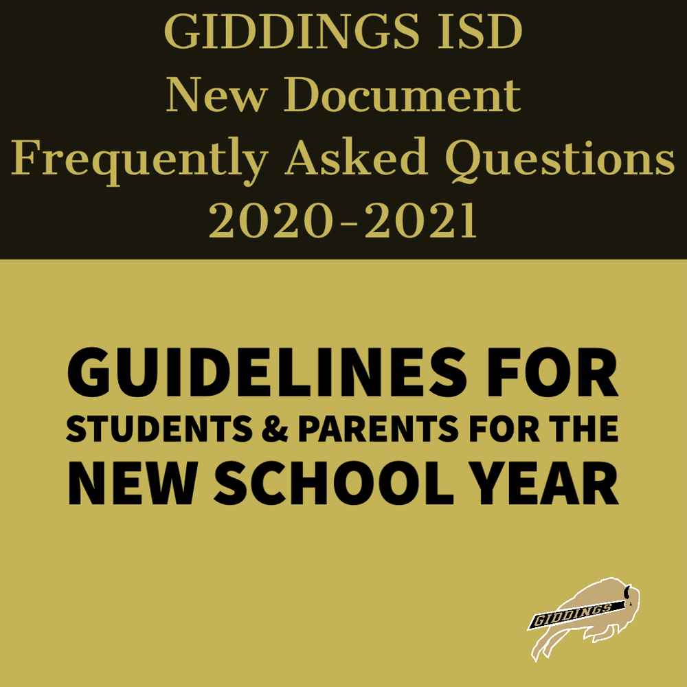 2020-21 GISD Frequently Asked Questions