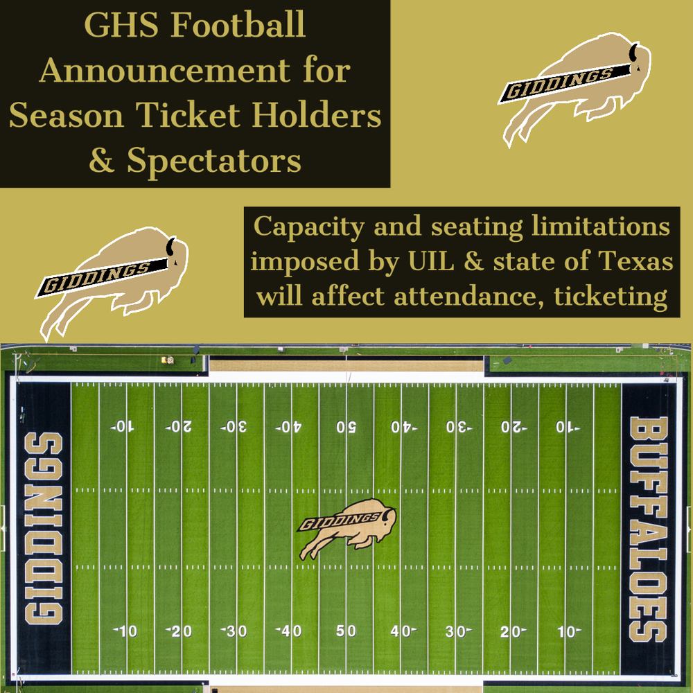 Announcement for GHS Football Season Ticket Holders and Spectators
