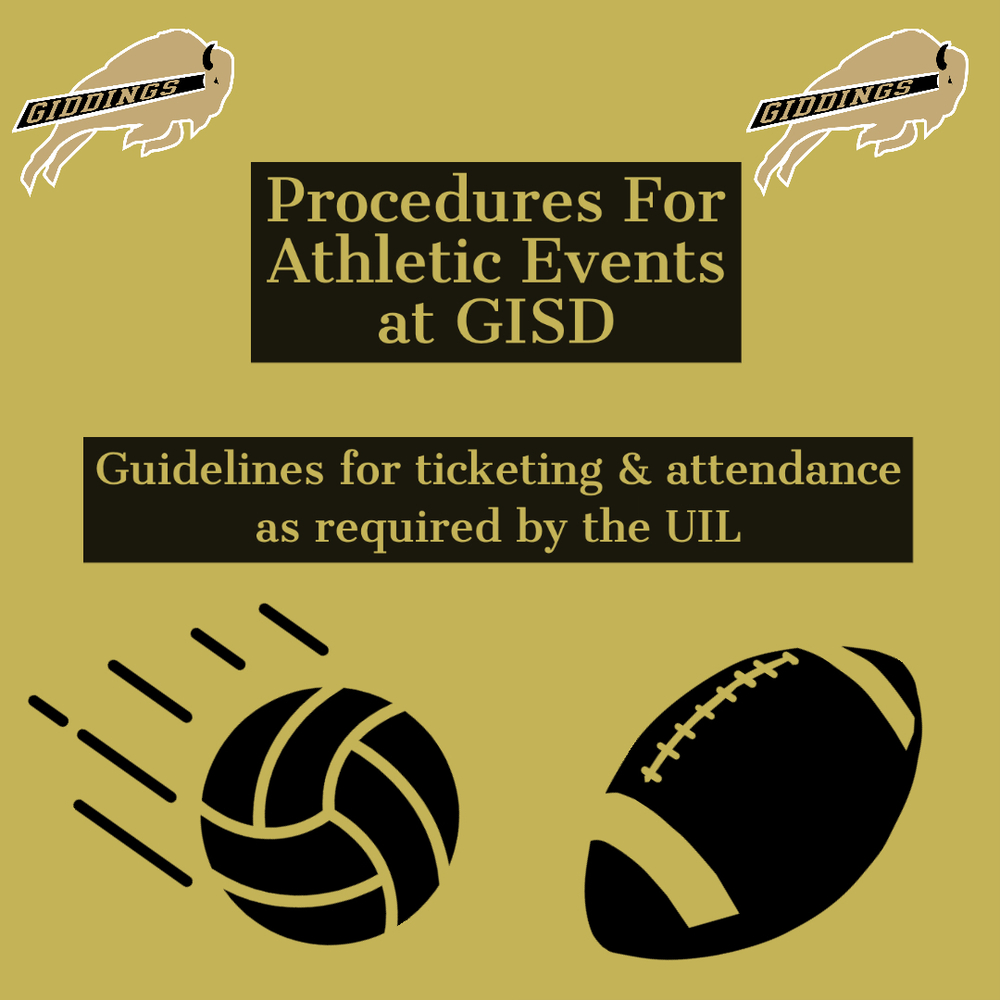 Procedures For Athletic Events at GISD