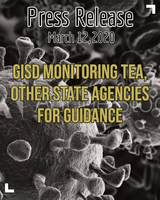 GISD Monitoring TEA, Other State Agencies for Guidance in Response to COVID-19