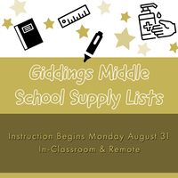GMS School Supply Lists
