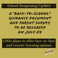 Reopening Guidance Document to be released July 27