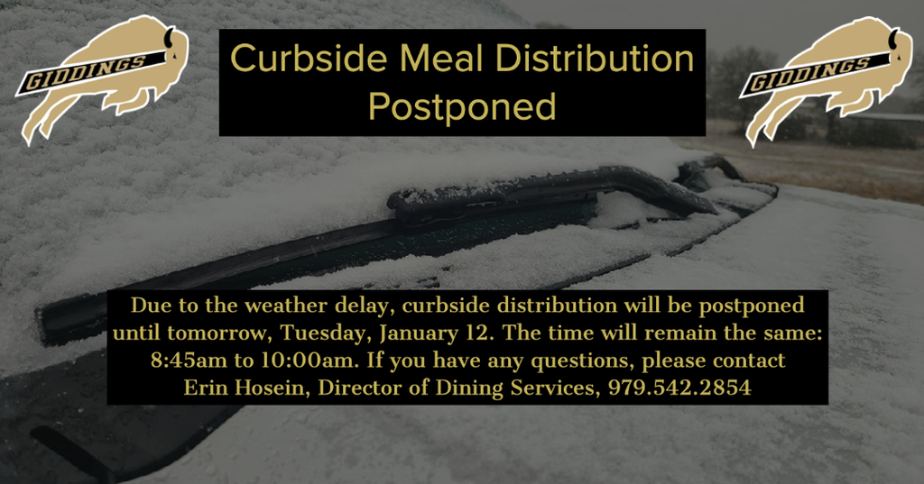 Meal Distribution Postponed