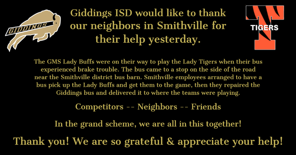 Thank you to Smithville