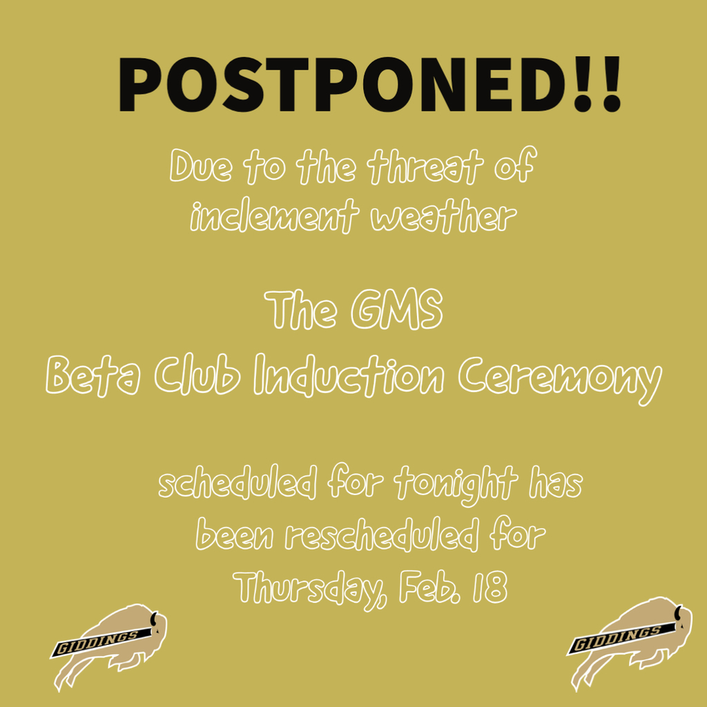 Beta Club Induction Postponed