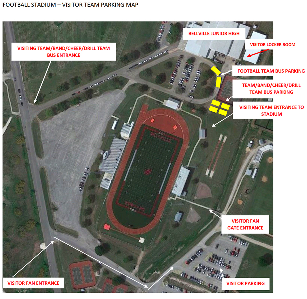 Bellville Football Stadium Map