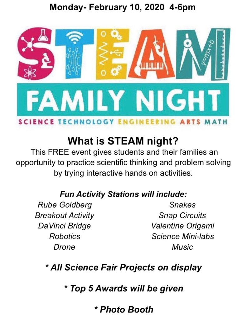 STEAM Night Flyer