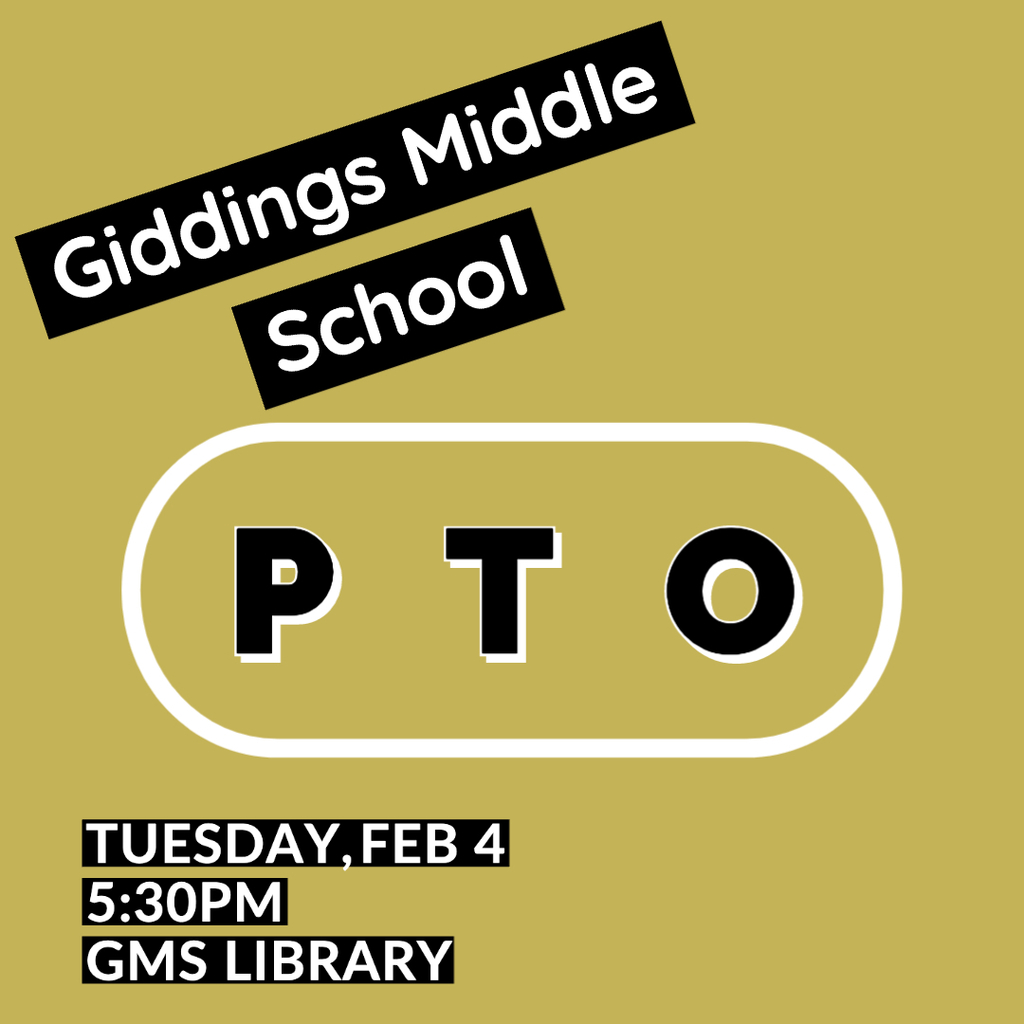 GMS PTO Meeting Tuesday Feb 4 at 5:30 pm