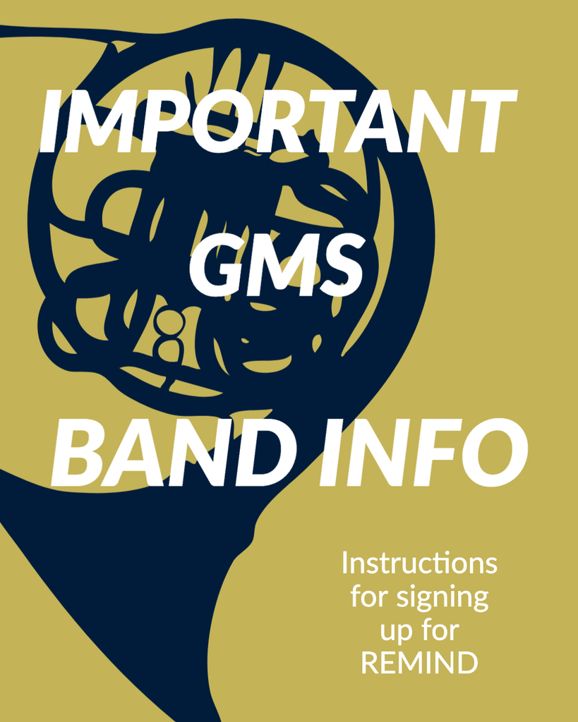 Important GMS Band Info