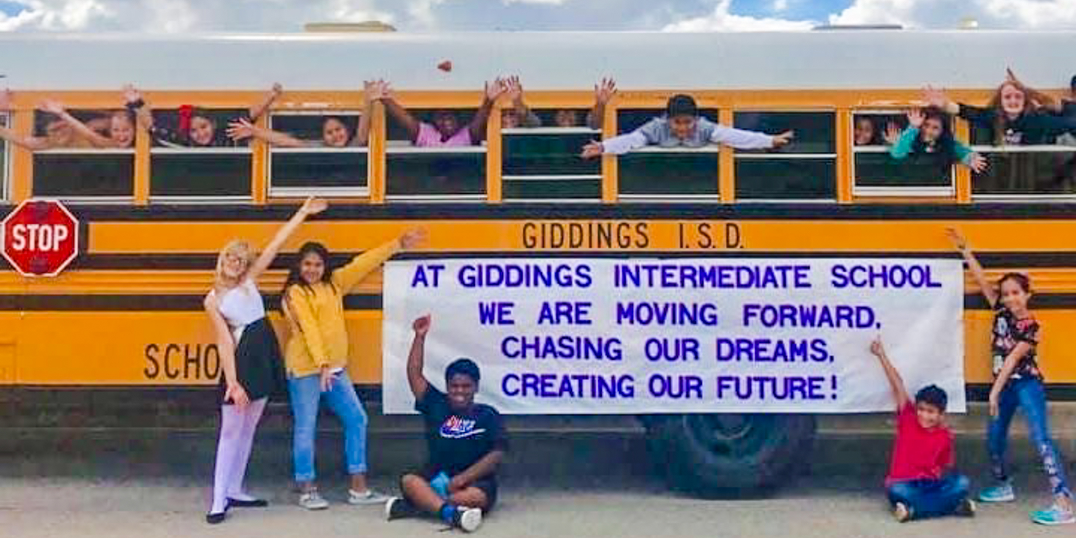 Giddings Intermediate School - Moving Forward; Chasing Our Dreams; Creating Our Future